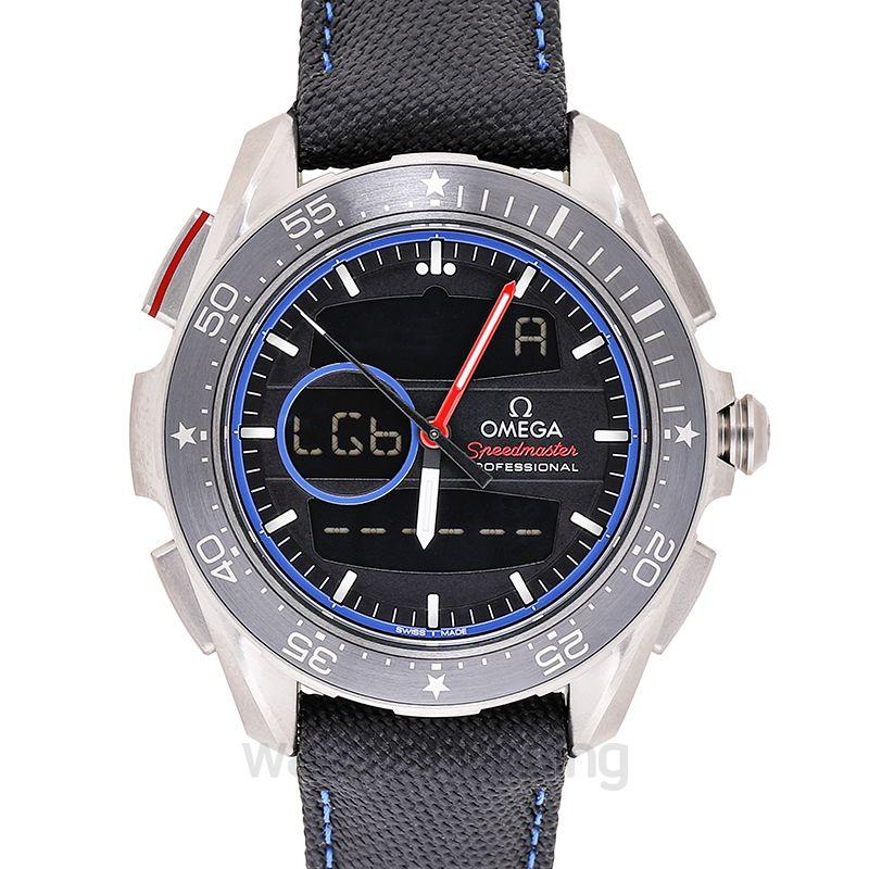 Omega Speedmaster X-33 Regatta Chronograph 45mm Quartz Black Dial Titanium Men's Watch