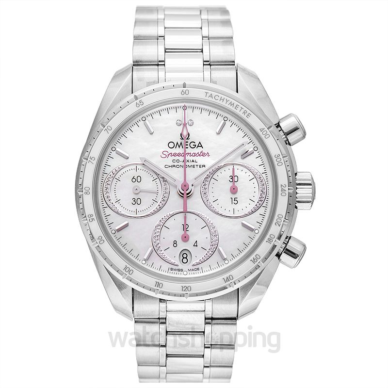 Omega Speedmaster 38 mm Co‑Axial Chronograph 38mm Automatic White Dial Diamonds Men's Watch
