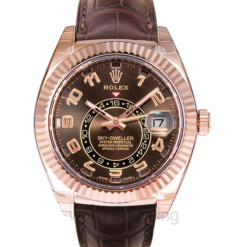 Rolex Sky Dweller Automatic Brown Dial Men's Watch