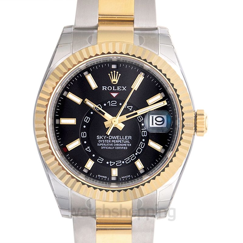 Rolex Sky-Dweller Stainless Steel / Yellow Gold / Black