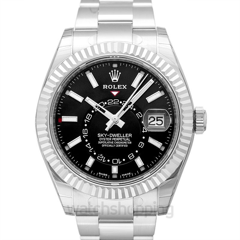 Rolex Sky-Dweller Stainless Steel / White Gold / Black