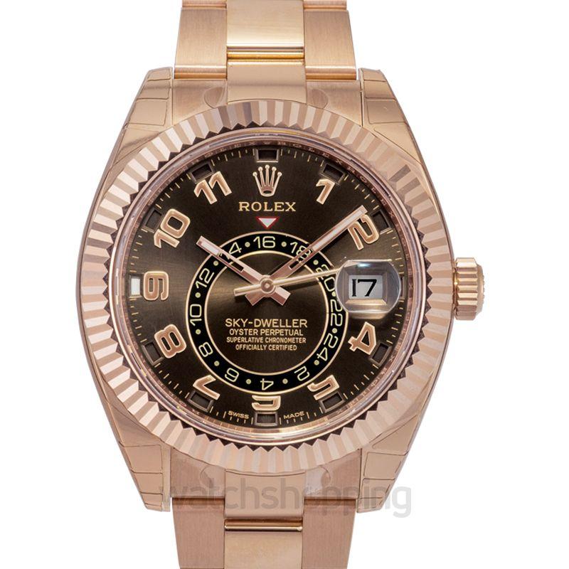 Rolex Rolex Sky Dweller Chocolate Dial 18K Everose Gold Oyster Bracelet Automatic Men's Watch 326935CHAO