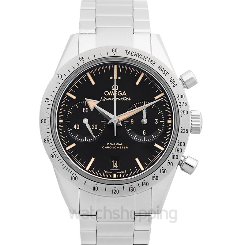Omega Speedmaster '57 Co‑Axial Chronograph 41.5 mm Automatic Black Dial Steel Men's Watch