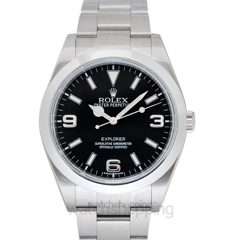 Rolex Explorer Black/Steel Ø39 mm