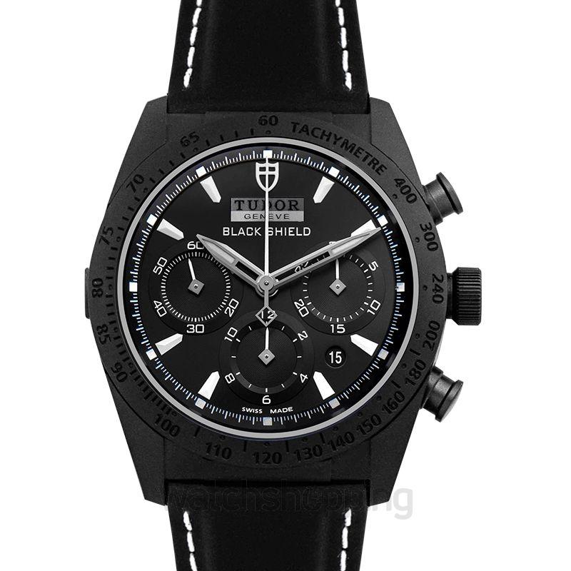 Tudor Fastrider Black Shield Chronograph Ceramic Automatic Black Dial Men's Watch