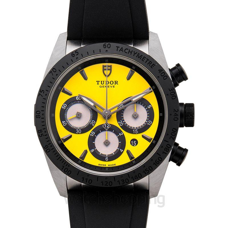 Tudor Fastrider Chrono Automatic Yellow Dial Men's Watch