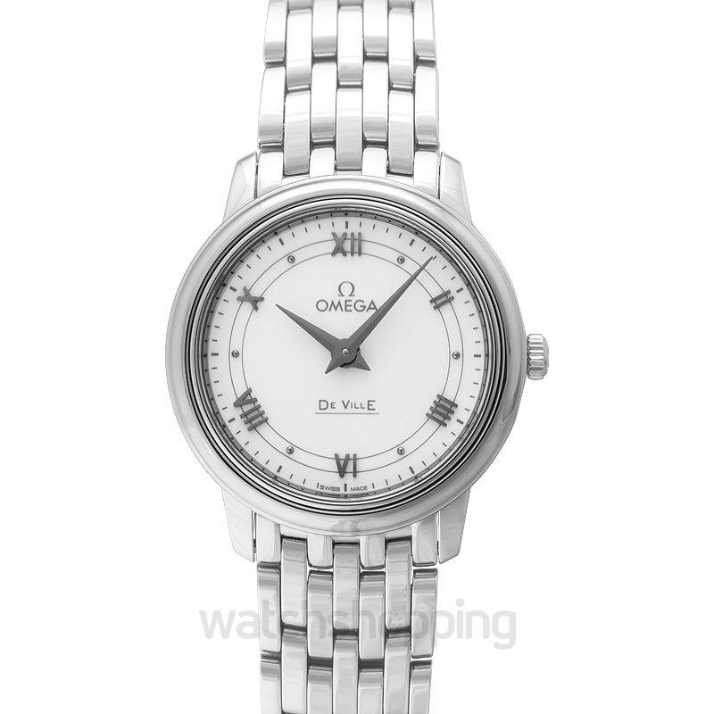 Omega De Ville Prestige Quartz 27.4mm Silver Dial Steel Ladies Watch