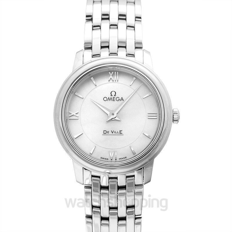 Omega De Ville Quartz White Dial Ladies Watch
