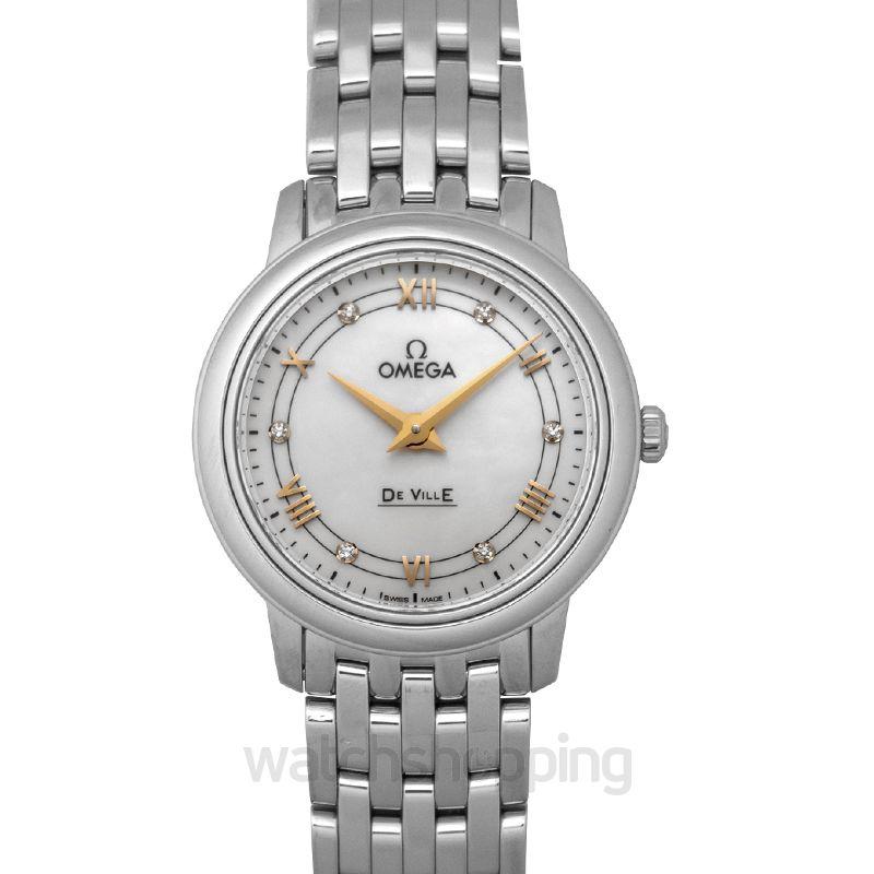 Omega De Ville Quartz White Dial Ladies Watch