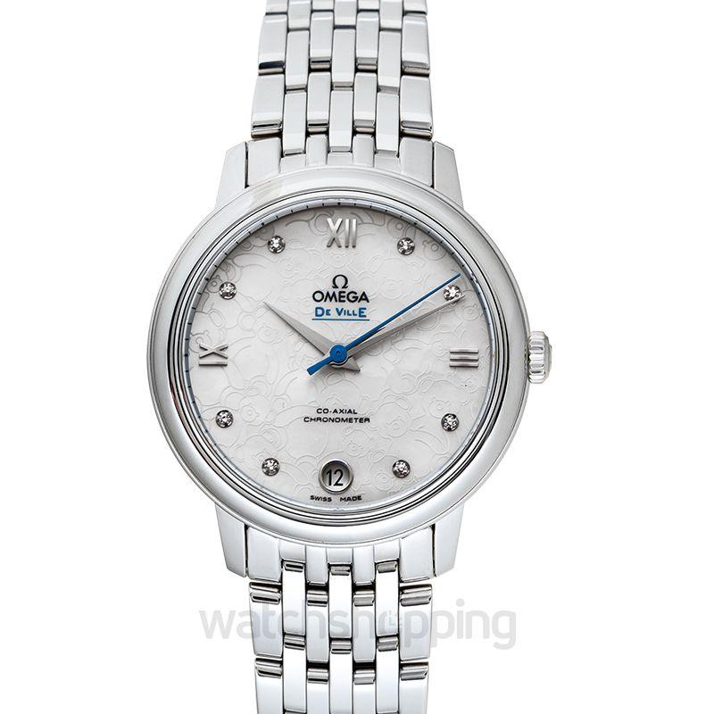 Omega De Ville Prestige Co‑Axial 32.7mm Orbis Automatic White Dial Diamonds Ladies Watch