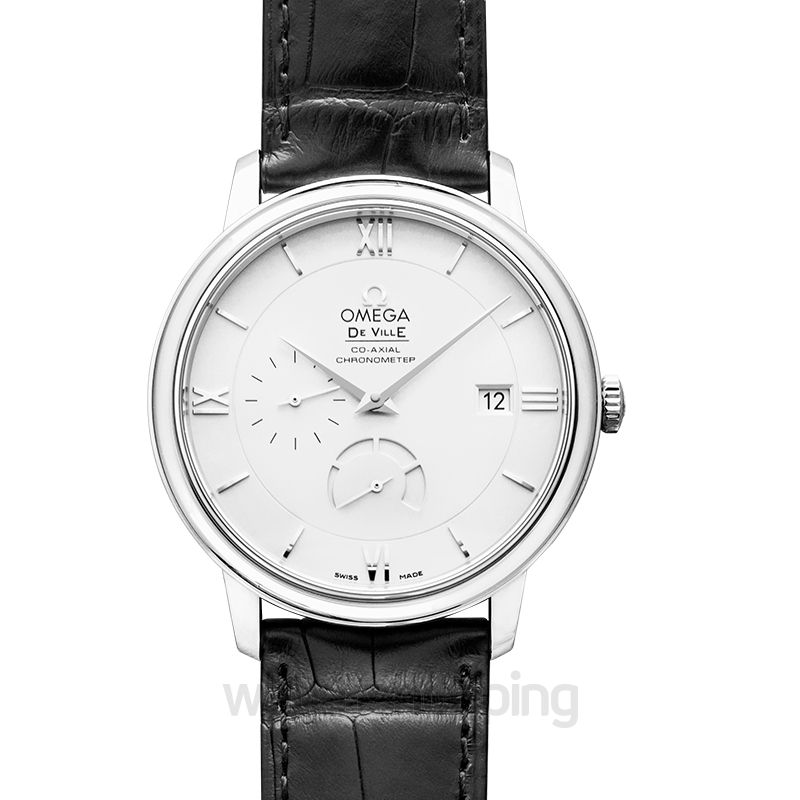 Omega De Ville Prestige Co‑Axial Power Reserve 39.5 mm Automatic Silver Dial Steel Men's Watch