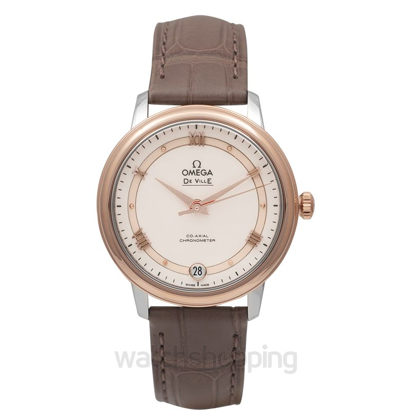 Omega De Ville Prestige Co‑Axial 32.7mm Automatic White Dial Red Gold Ladies Watch