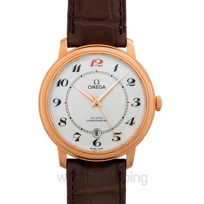Omega De Ville Prestige Co‑Axial 39.5mm Automatic White Dial Red Gold Men's Watch