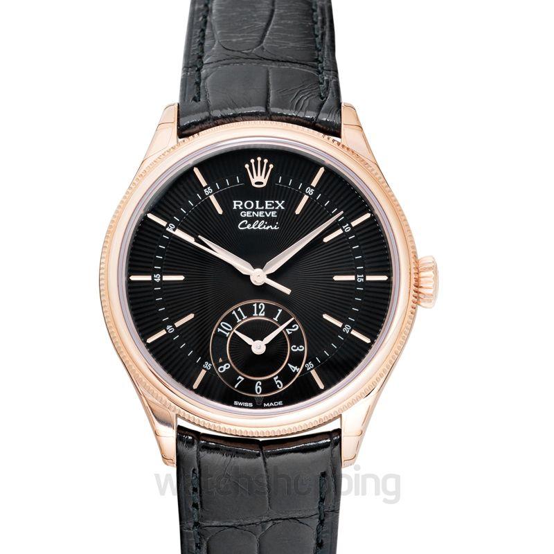 Rolex Cellini Black Dial Men's Watch