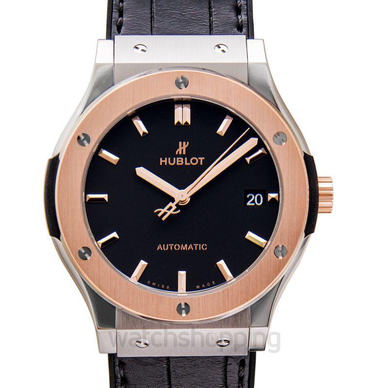 Hublot Classic Fusion Titanium King Gold Automatic Black Dial Men's Watch