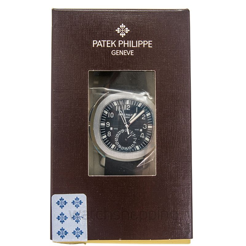 Patek Philippe Aquanaut Dual Time Black Dial Men's Watch