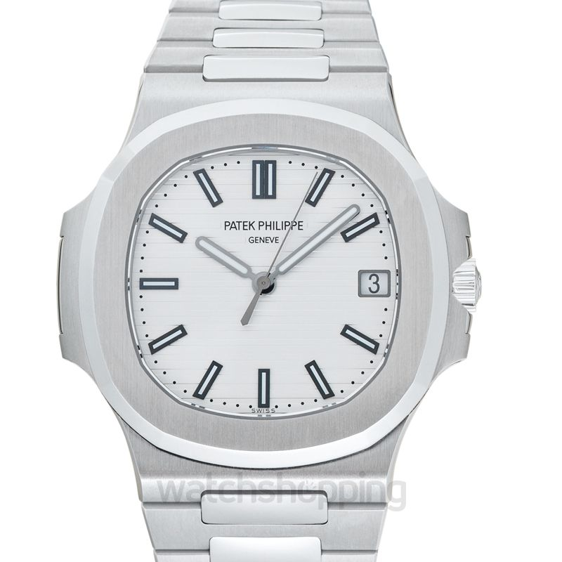 Patek Philippe Nautilus Silver Dial Men's Watch
