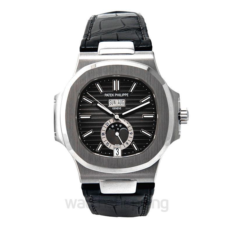Patek Philippe Nautilus Black Dial Men's Watch