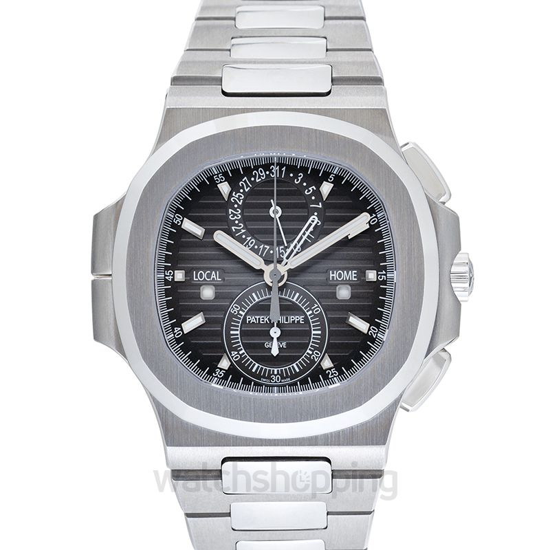 Patek Philippe Patek Philippe Nautilus Travel Time Chronograph Stainless Steel Automatic Men's Watch 5990-1A-001