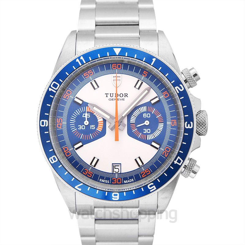 Tudor Heritage Chronograph Blue and Silver Dial Men's Watch