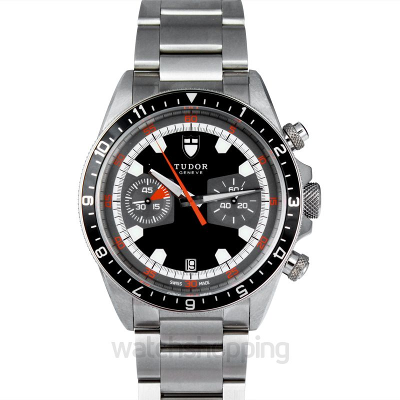 Tudor Heritage Chrono Automatic Black Dial Men's Watch
