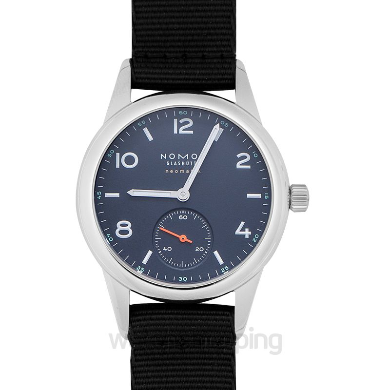 Nomos Glashütte Club Neomatik Atlantic Automatic Blue Dial 37.0mm Men's Watch