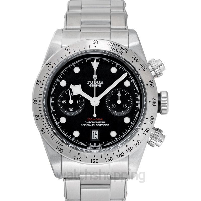 Tudor Heritage Black Bay Chrono Steel Automatic Black Dial Men's Watch