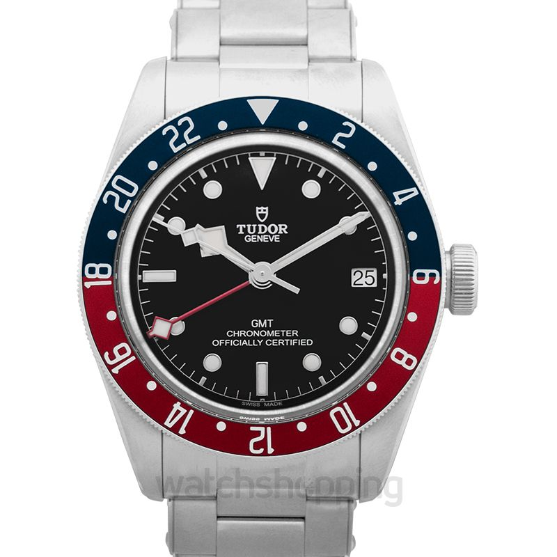 Tudor Black Bay Automatic Black Dial Men's GMT Stainless Steel Watch