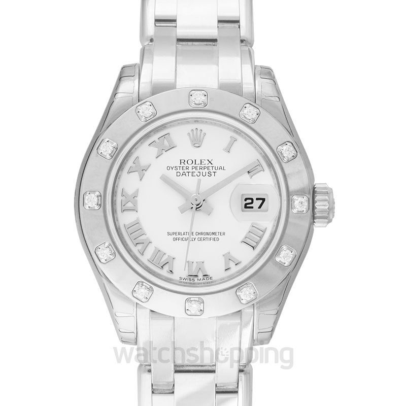 Rolex Rolex Datejust Pearlmaster Mother of Pearl Dial 18kt White Gold Ladies Watch 80319MRPM
