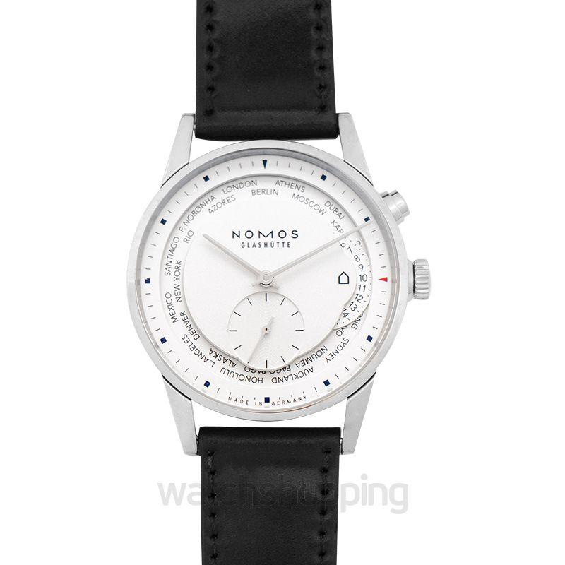 Nomos Glashütte Zürich World Time Automatic White Dial 39.9mm Men's Watch