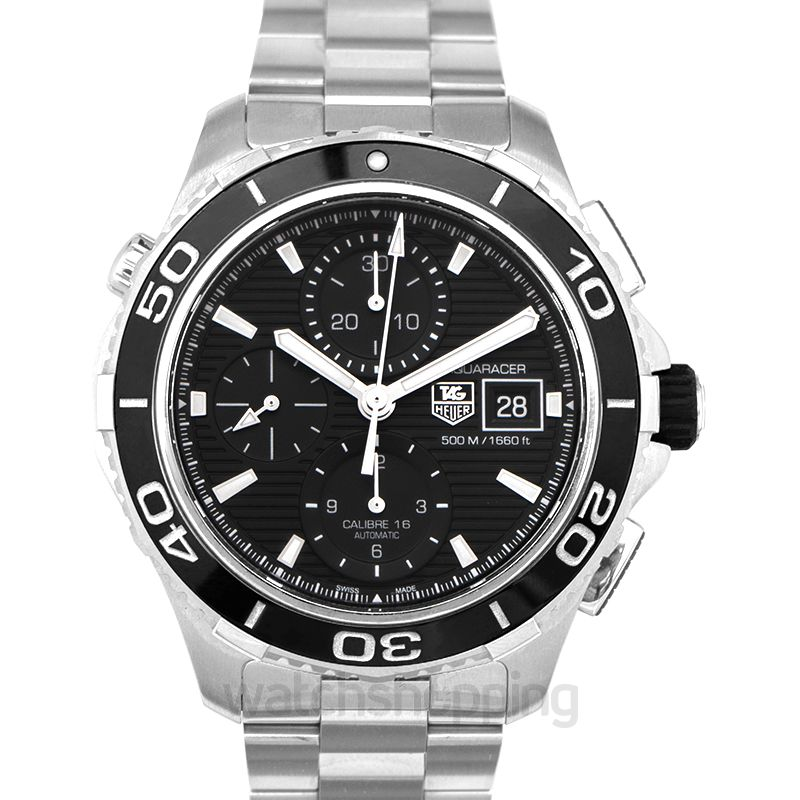 TAG Heuer Aquaracer Chronograph Automatic Black Dial Men's Watch