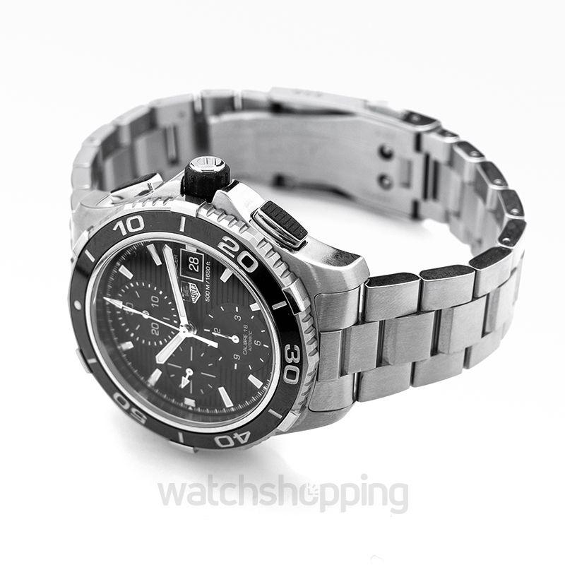 3df0a5144a2 New TAG Heuer Aquaracer Chronograph Black Steel 43mm CAK2110.BA0833 ...