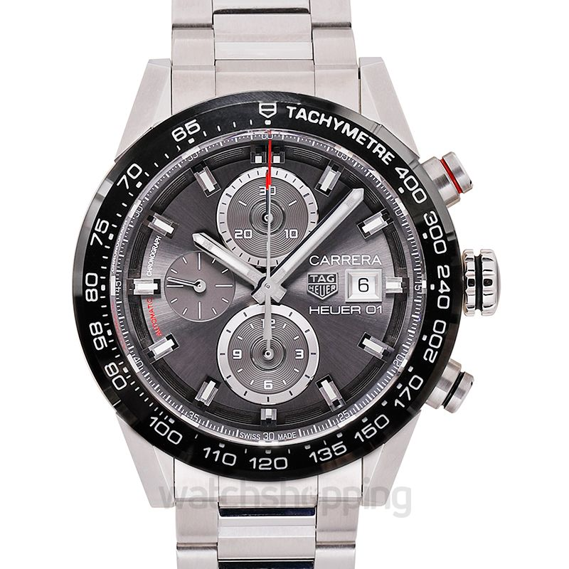 TAG Heuer Carrera Tachymeter Automatic Grey Dial Men's Watch