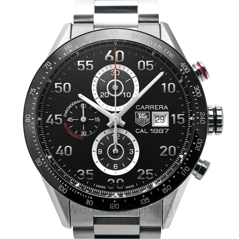 TAG Heuer Carrera Tachymeter Automatic Chronograph Black Dial Men's Watch
