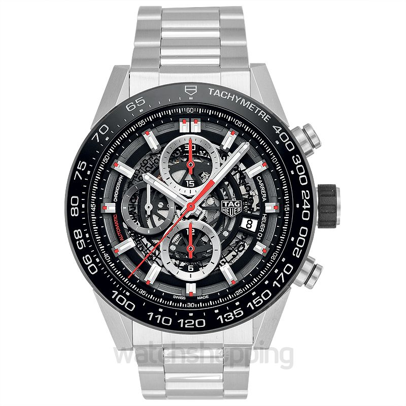 Tag Carrera Watch >> Carrera Heuer 01 Automatic Skeleton Dial Men S Watch
