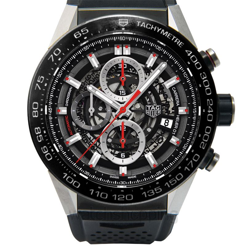 TAG Heuer TAG HEUER Carrera Calibre Heuer 01 Automatic Skeleton Dial Men's Watch