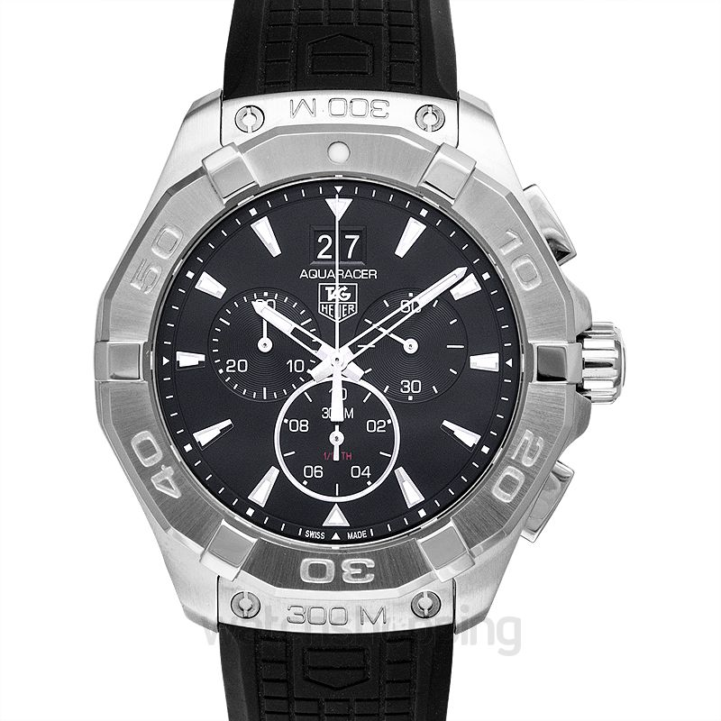 17cf83fda32 New TAG Heuer Aquaracer Chronograph 300M Black Steel/Rubber 43mm ...
