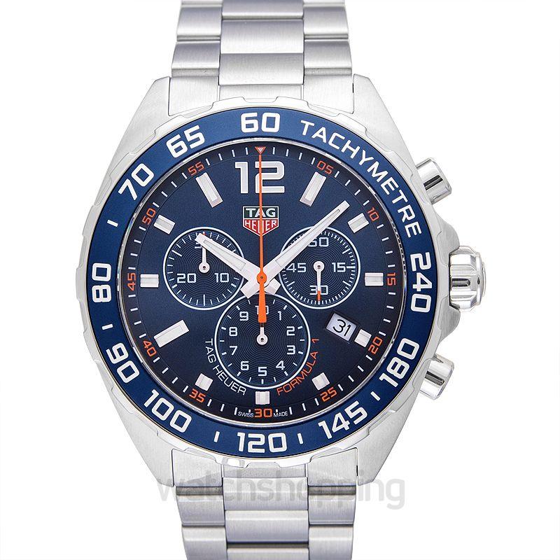 ed226ef0230 New TAG Heuer Formula 1 Chronograph Blue Dial Men's Watch CAZ1014 ...