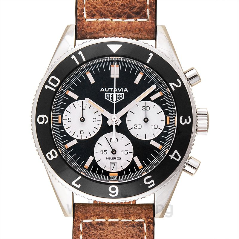 TAG Heuer Heritage Calibre Heuer 02 Automatic Chronograph Black Dial Men's Watch