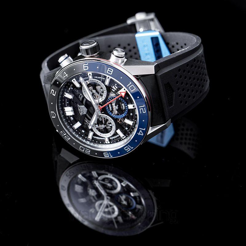Carrera Calibre Heuer 02 Chronograph Automatic Skeleton Dial Ladies Watch