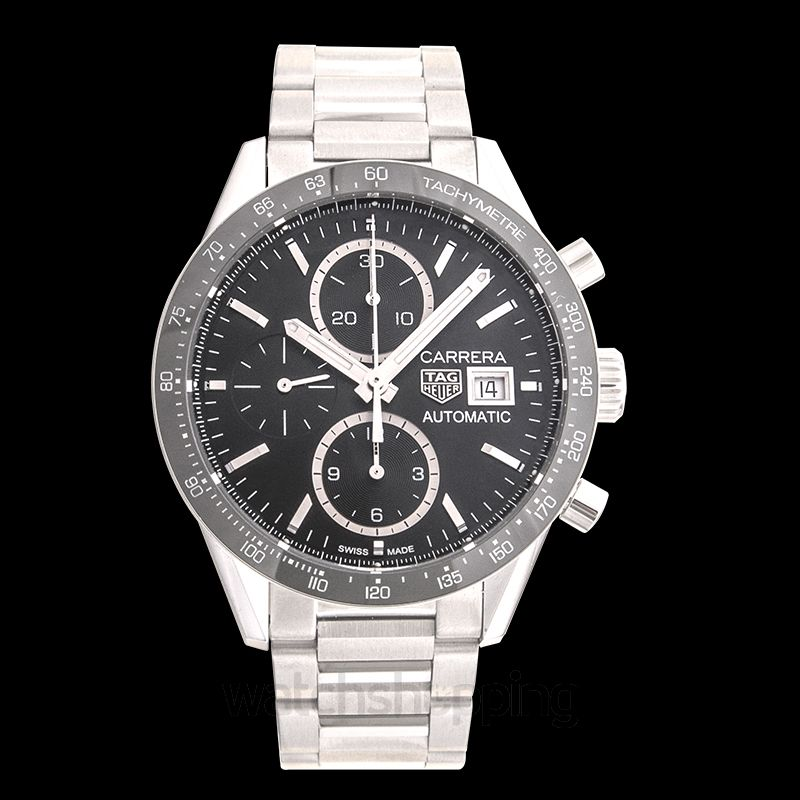 low priced 8e7e5 38063 Carrera Calibre 16 Automatic Chronograph Black Dial Ladies Watch