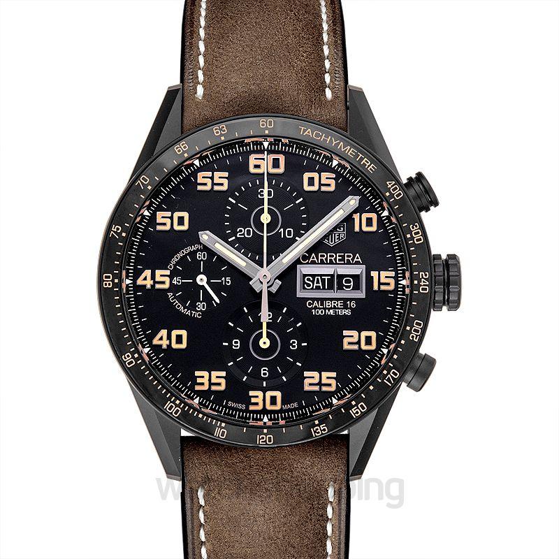 TAG Heuer Carrera Calibre 16 DD Automatic Chronograph Black Dial Men's Watch