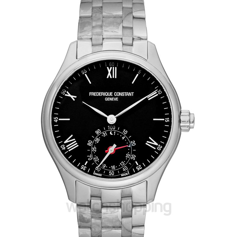 Frédérique Constant Horological Smart Watch Black Dial Stainless Steel Men's Watch