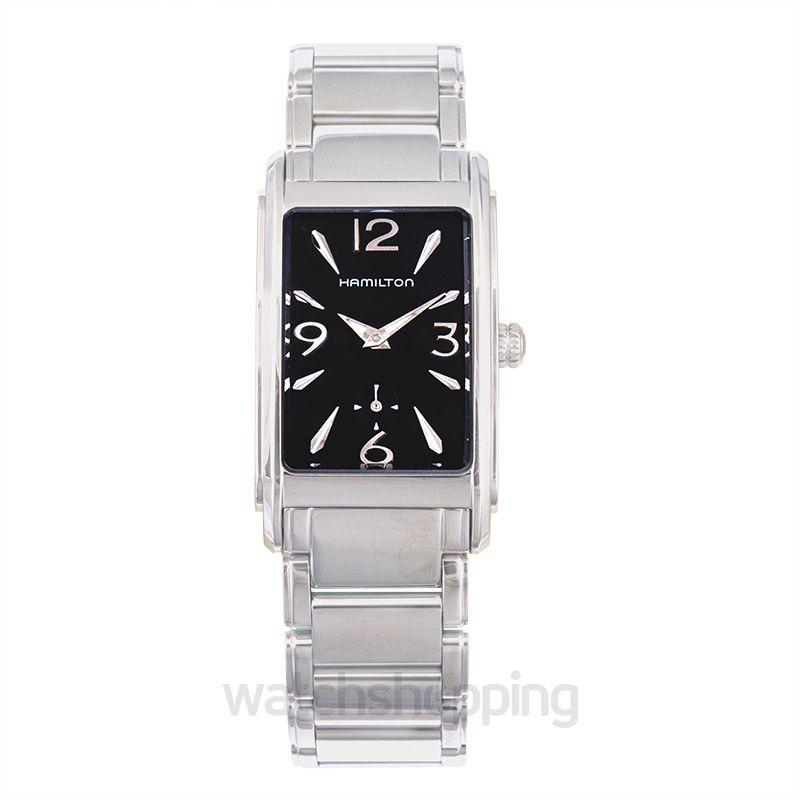 Hamilton American Classic Quartz Black Dial Steel Ladies Watch