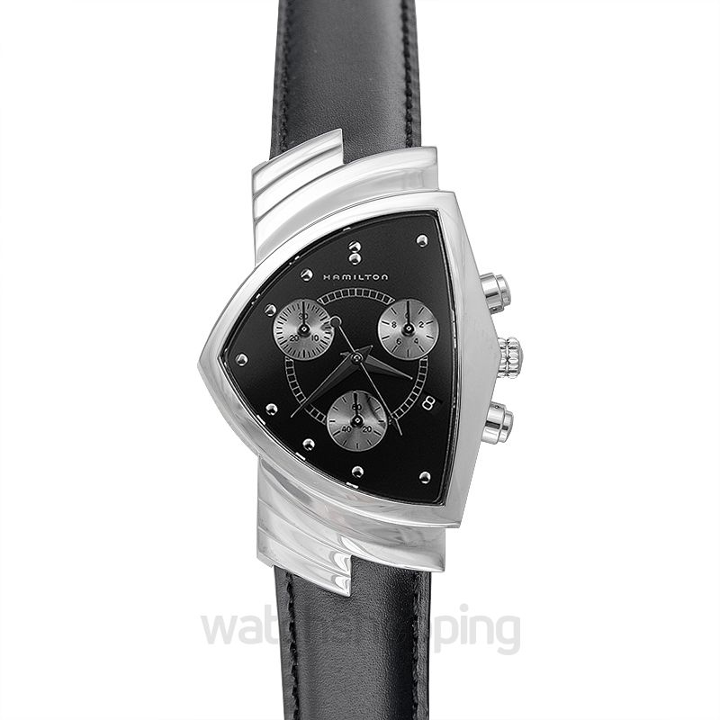 Hamilton Ventura Quartz Black Dial Stainless Steel Men's Watch
