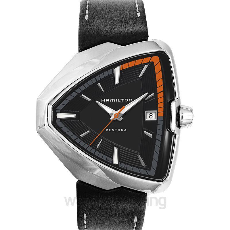 Hamilton Ventura Quartz Black Dial Stainless Steel Men's Watch