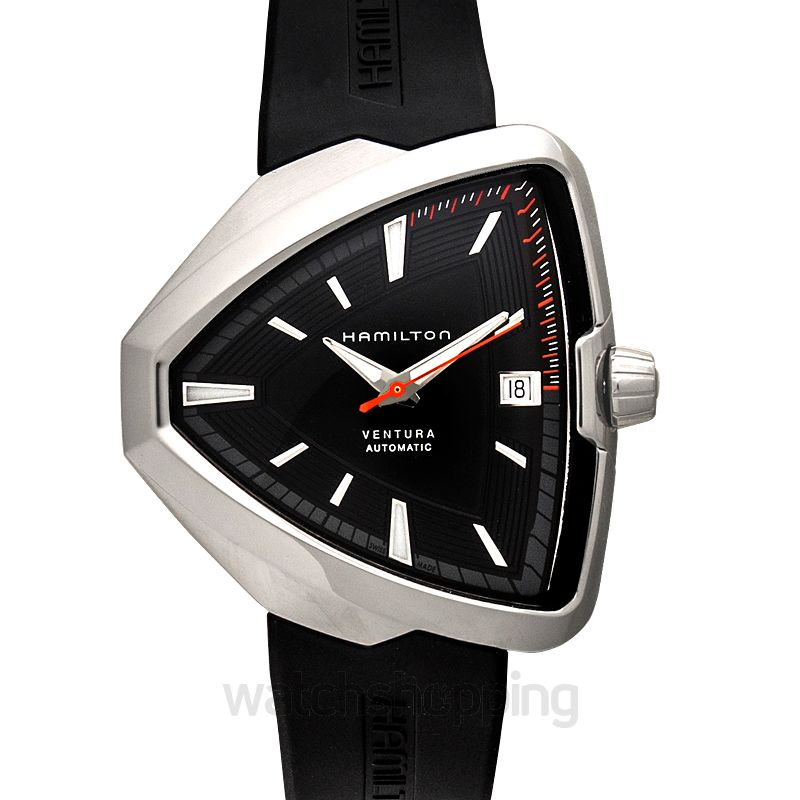 f499d6edf1c New Ventura Elvis80 Automatic Black Dial Men s Watch H24555331 Hamilton  Ventura Watch