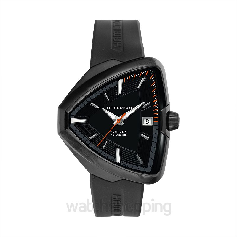 Hamilton Ventura Automatic Black Dial Black PVD Stainless Steel Men's Watch