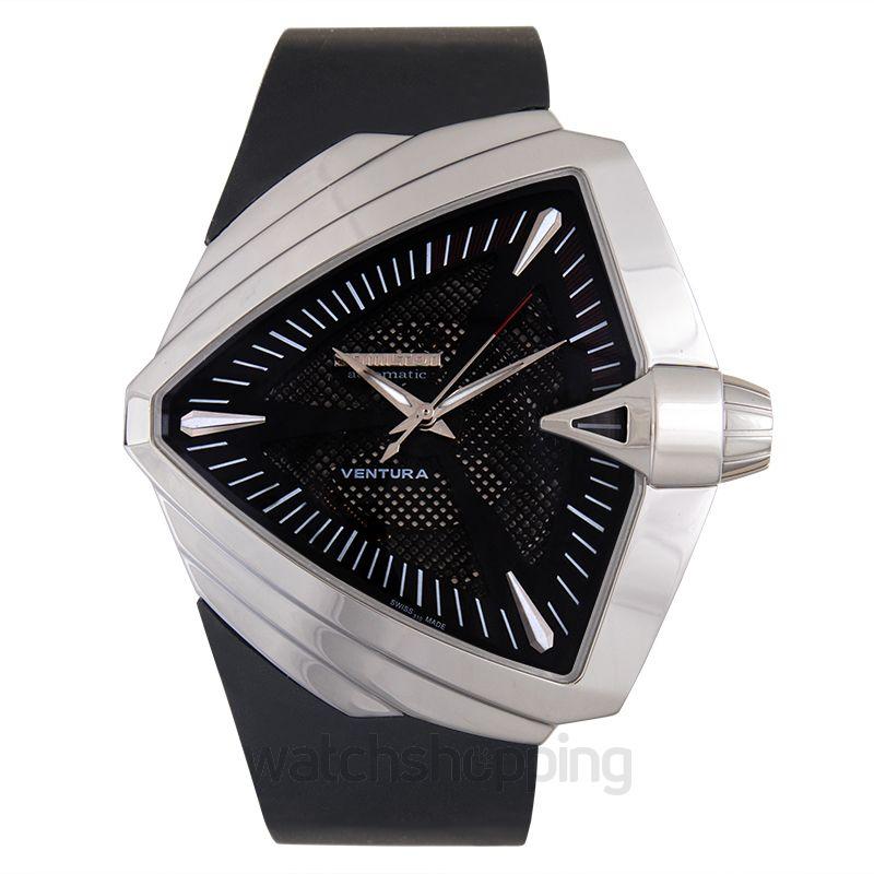 Hamilton Ventura Automatic Black Dial Stainless Steel Men's Watch