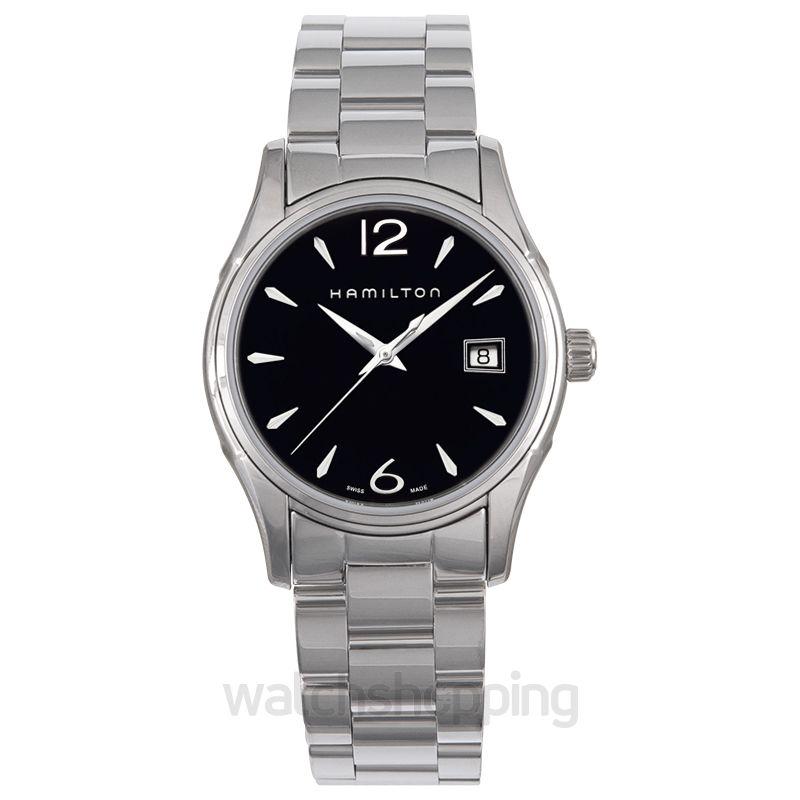 Hamilton Jazzmaster Quartz Black Dial Stainless steel Ladies Watch